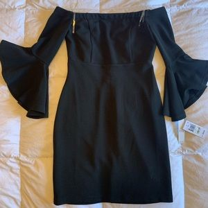 Brand new Off the shoulder black dress